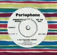 ADAM FAITH The Time Has Come Vinyl Record 7 Inch Parlophone 1961 Demo